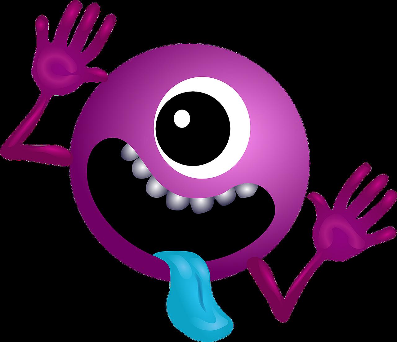 Monster clipart female monster. Alien purple smiley png