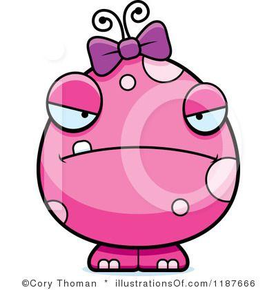 Monster clipart female monster. Royalty free rf illustration