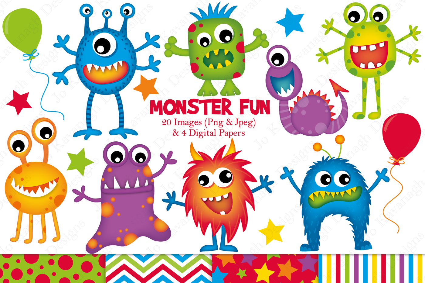 Graphics illustrations by jo. Monster clipart jpeg