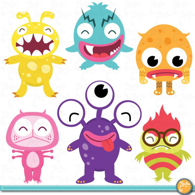 monster clipart litter