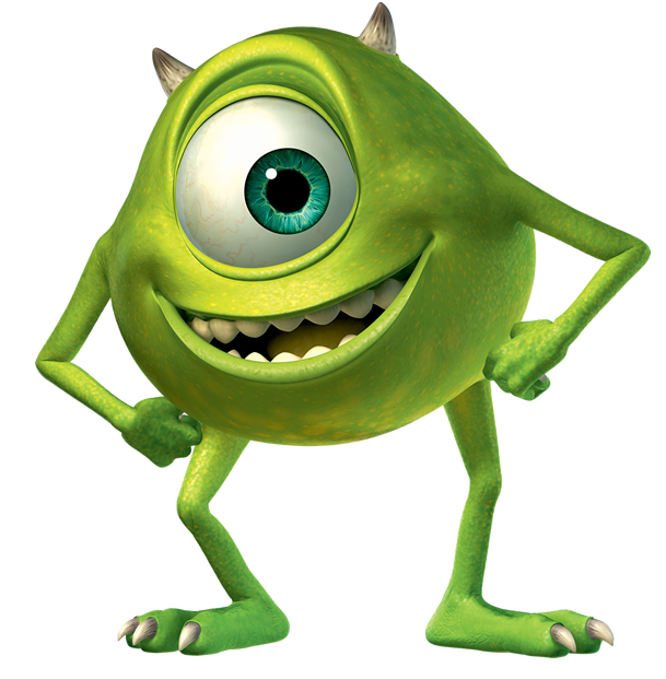 Monster clipart mike wazowski. Related image silhoutte pinterest