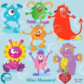 Halloween best teacher tools. Monster clipart mini monsters