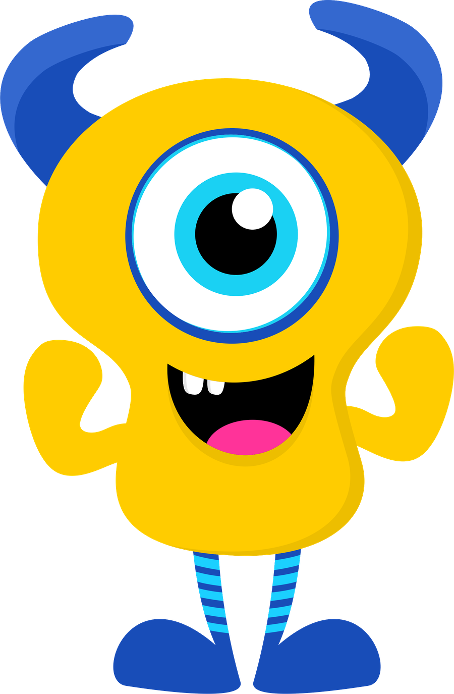 collection of png. Numbers clipart monster