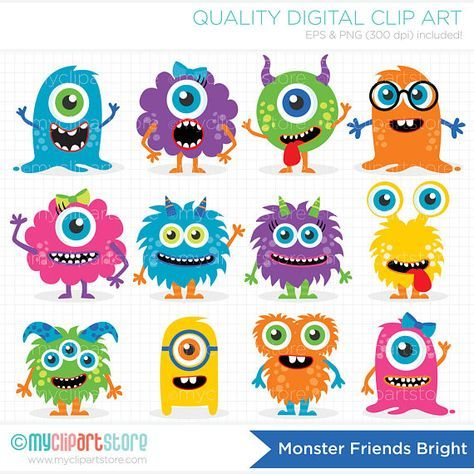 Baby cute friendly . Monster clipart monstruo