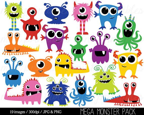 Monster clipart monstruo. Monsters clip art birthday