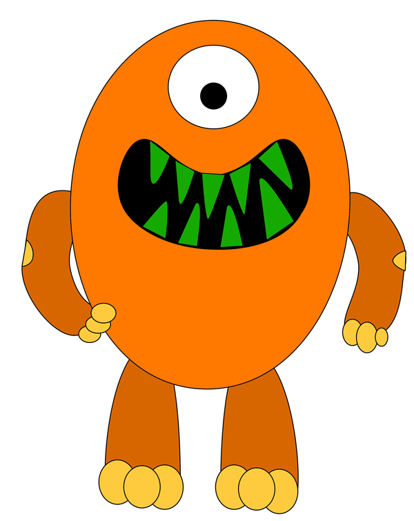 Monster clipart orange. Free cliparts download clip