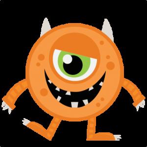 Halloween free download best. Monster clipart orange
