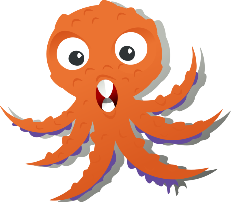 free images photos. Monster clipart orange