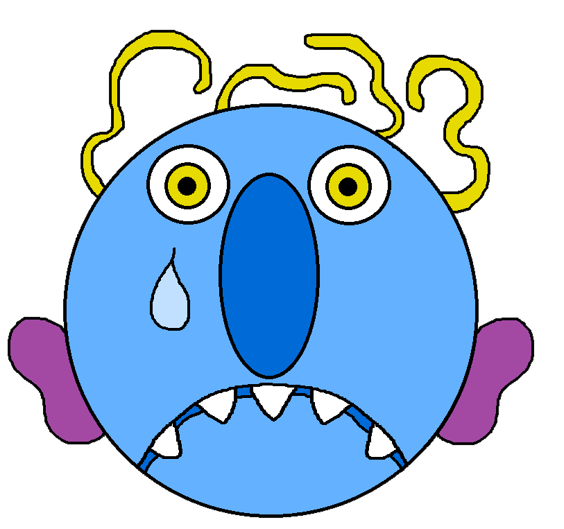 collection of monster. Worry clipart sad