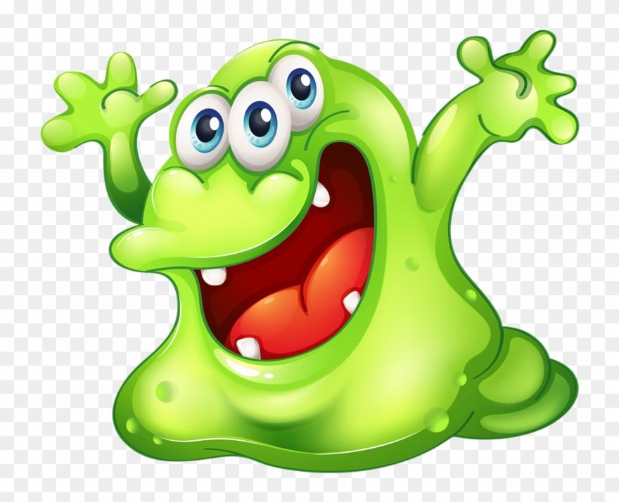 Monster clipart slimy. Cartoon lustige slime free
