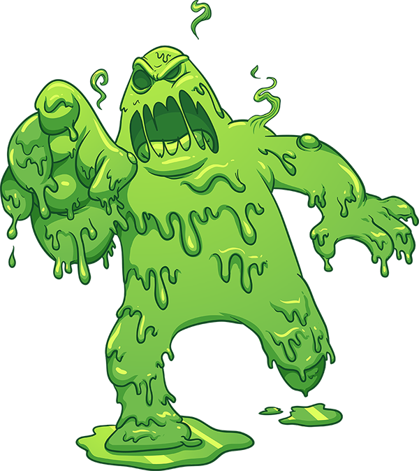monster clipart slimy