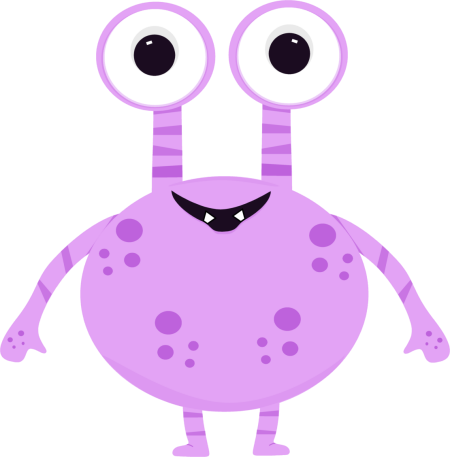 Monster clipart two eyed. Purple clip art