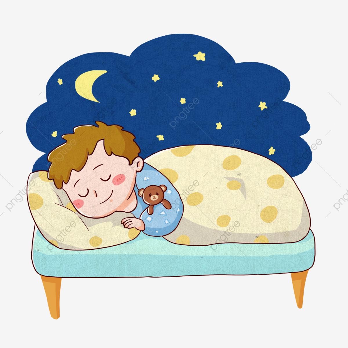 Night clipart nap. Moon sleep lovely hand