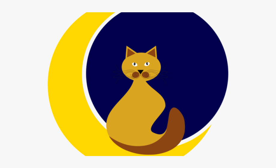 Moon clipart bitmap. Cat free cliparts on