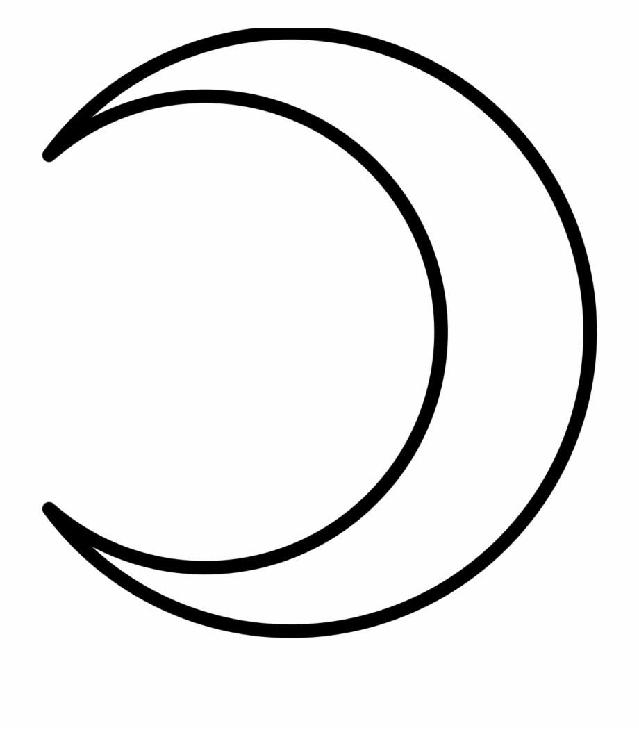 Crescent Moon Clip Art - White Half Moon Png - Free Transparent PNG Clipart  Images Download