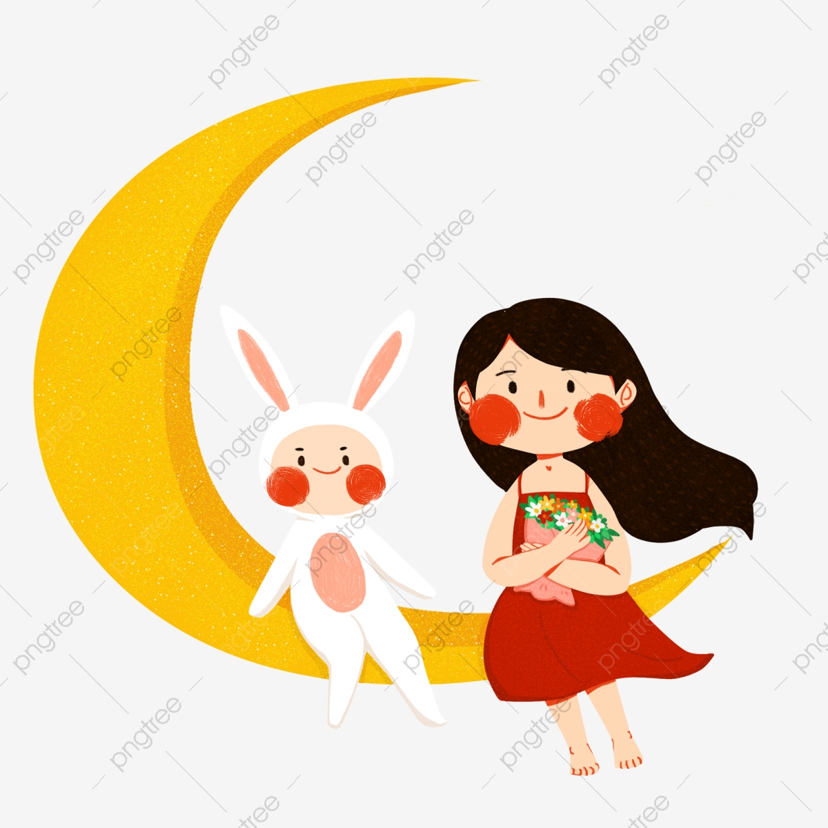 Hand drawn illustration of. Moon clipart kid png