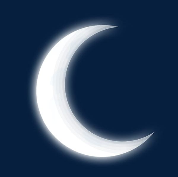 Moon clipart night. White in the sky