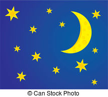 Moon clipart night.  and stars clip