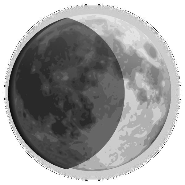Crescent clip art at. Moon clipart weather