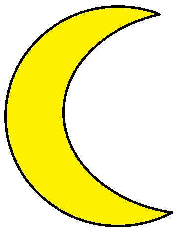 Clipartpost . Moon clipart yellow