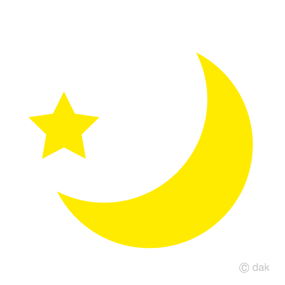 Crescent and star free. Moon clipart yellow