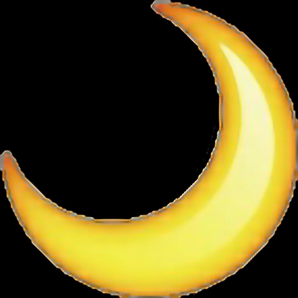 Sticker emoji emoticon stars. Moon clipart yellow