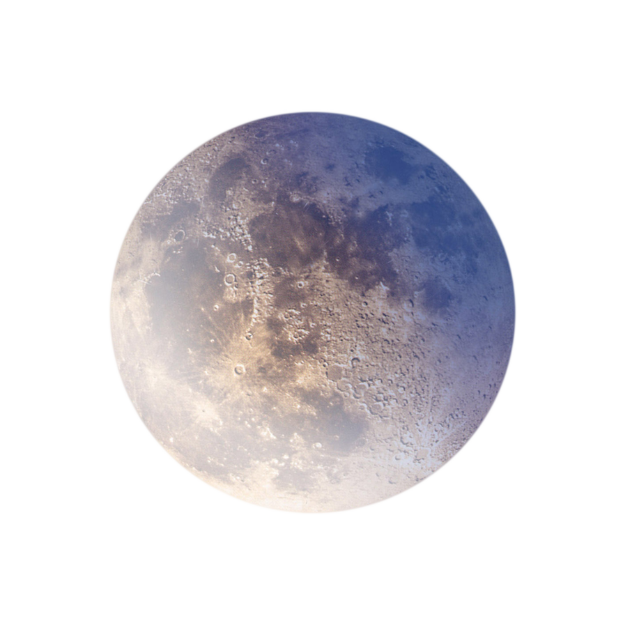 Moon png images. Full blue by annamae