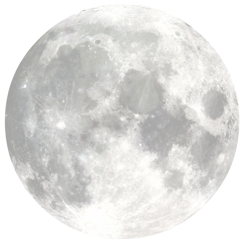 Moon png images. Full black and white