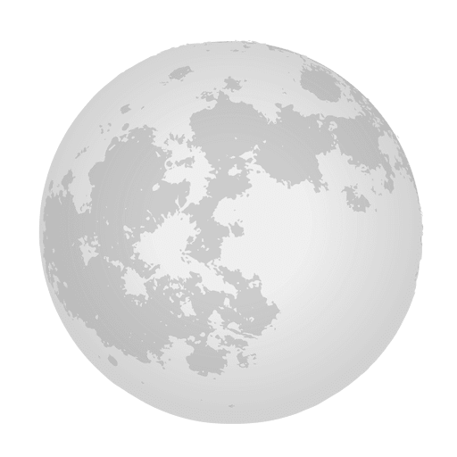 Realistic transparent svg. Moon vector png