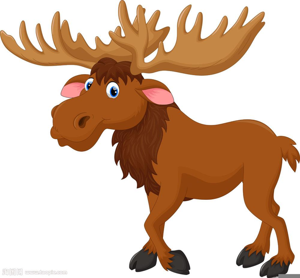 Cartoon free images at. Moose clipart