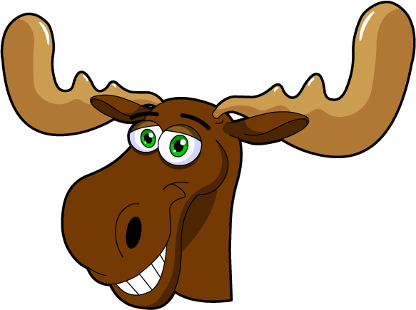Moose clipart animated. Free cute cliparts download