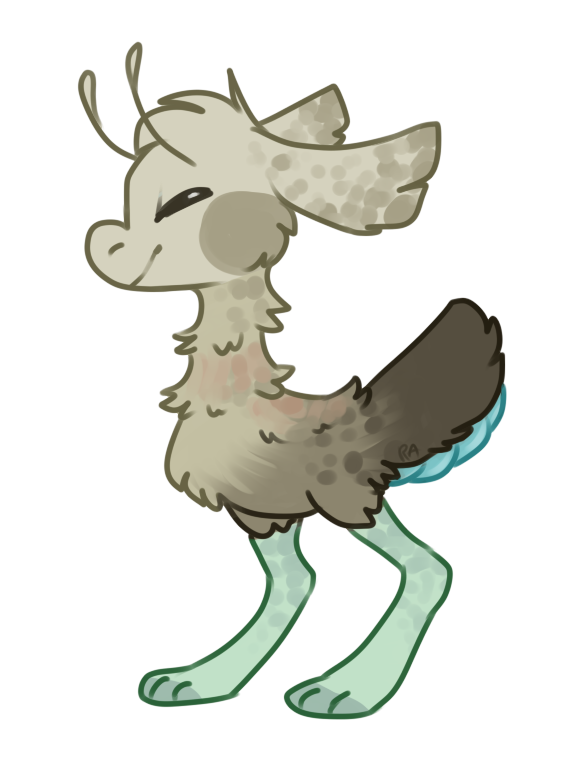 Rb by red anteater. Moose clipart chibi