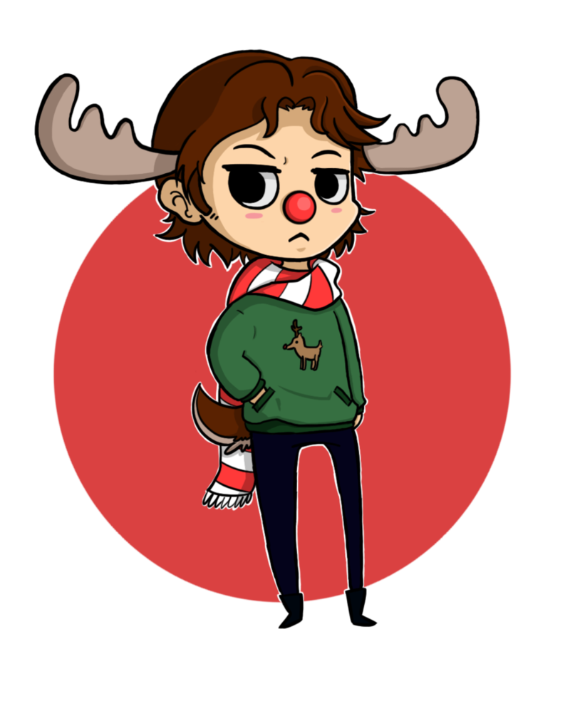 Moose clipart chibi. Sam the christmas by