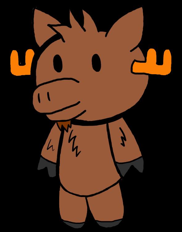 Image henry the plush. Moose clipart chibi