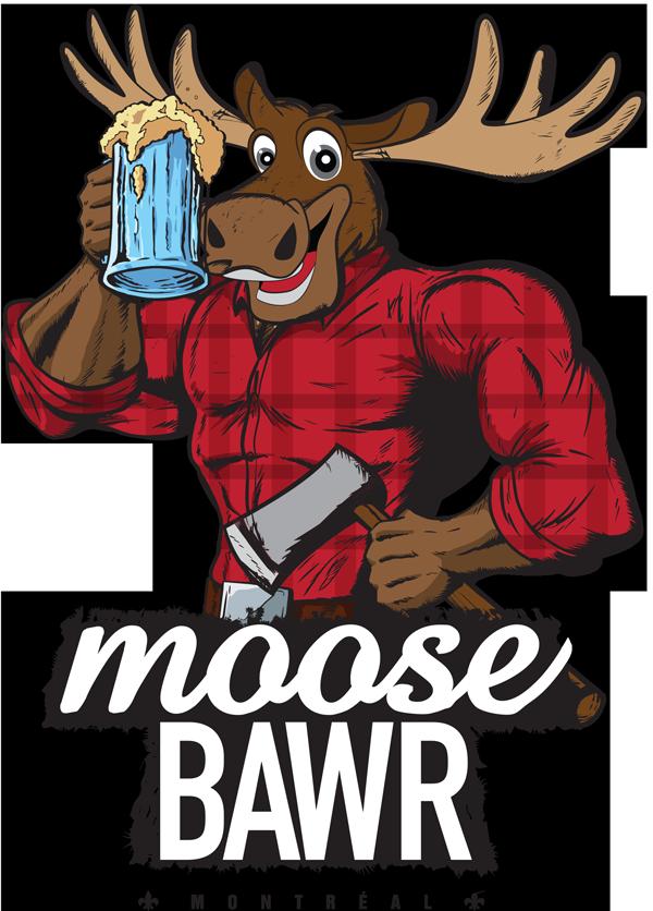 Moose clipart day canada. Moosebawr slogan here