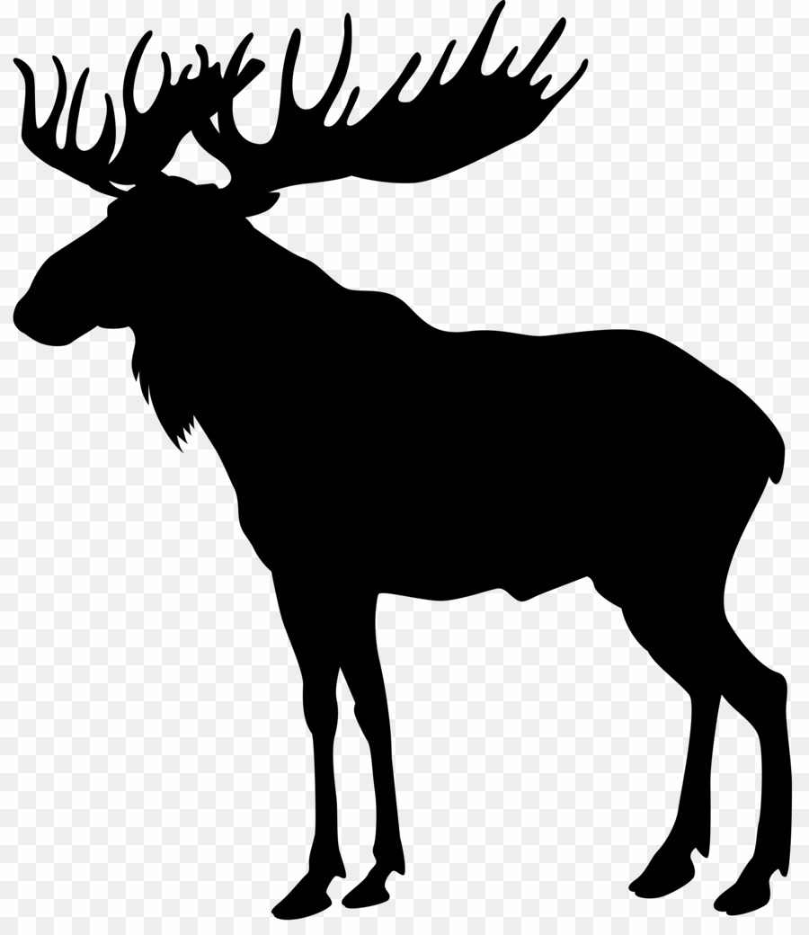 Moose clipart deer. Silhouette transparent background png