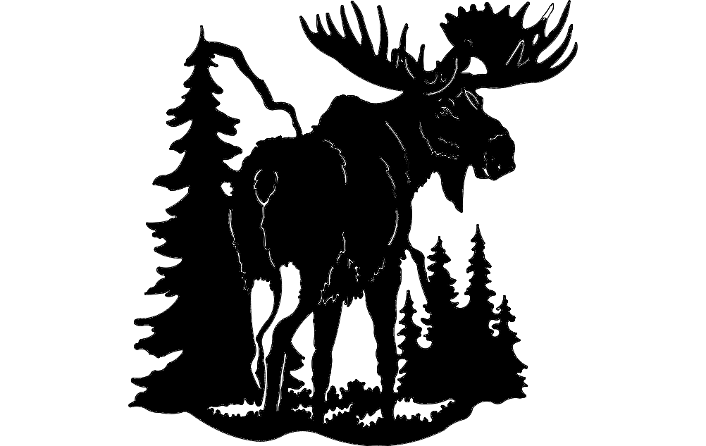 Moose clipart dxf. File free download axis