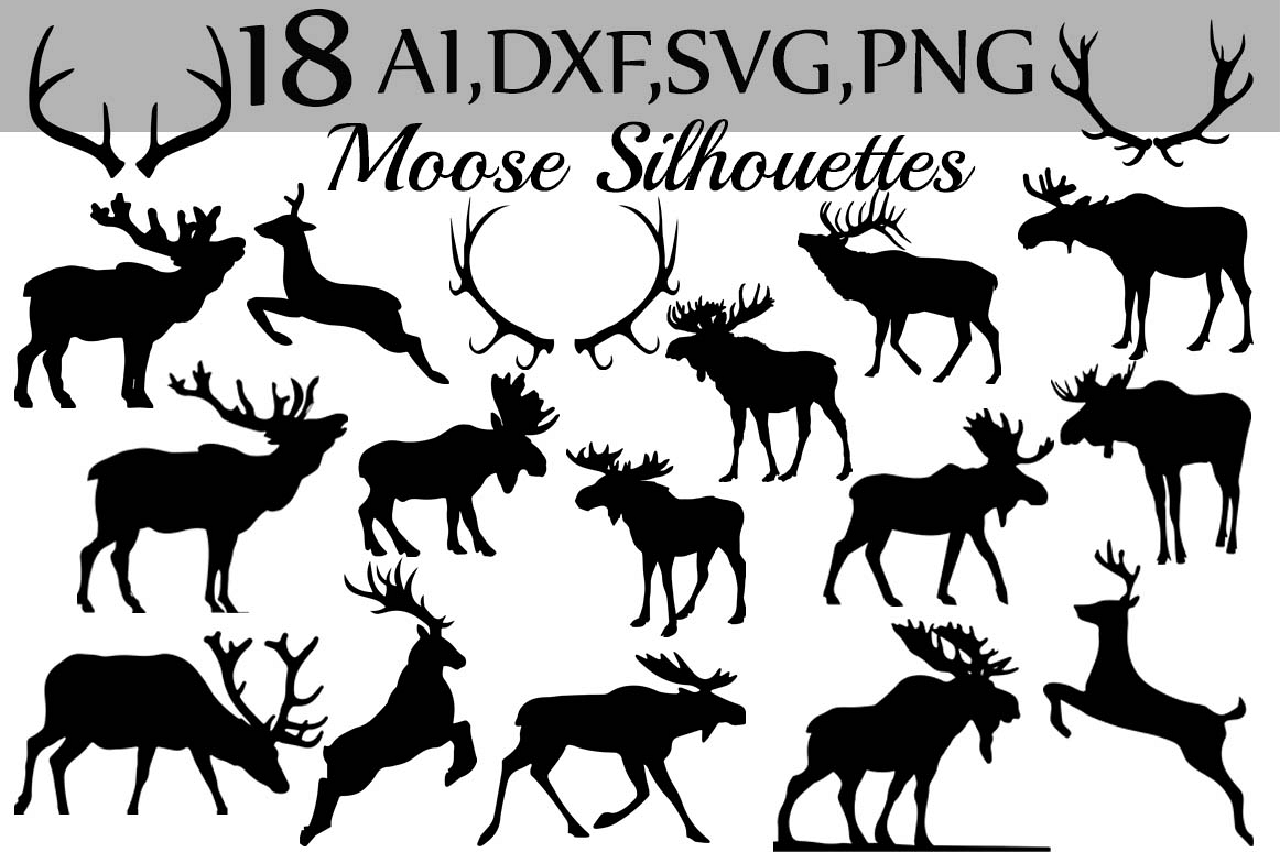 Svg . Moose clipart dxf