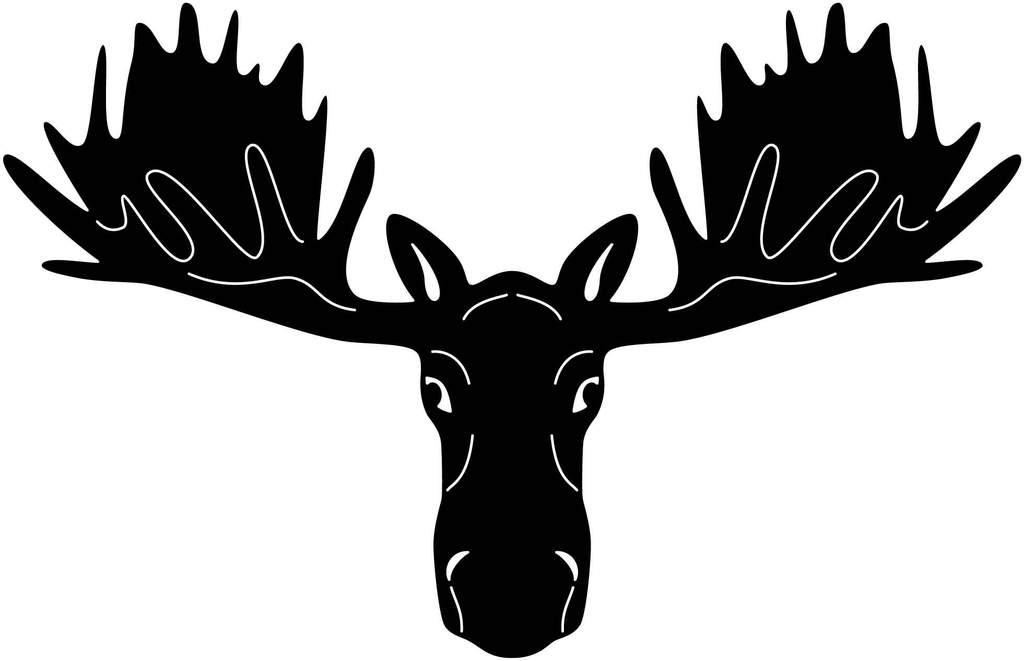 Head free file cut. Moose clipart dxf