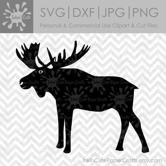 Moose clipart file. Svg clip art silhouette