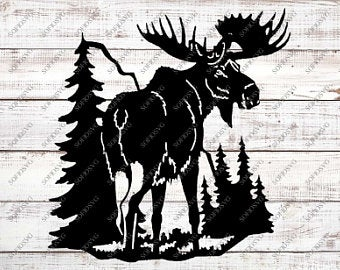 Etsy . Moose clipart file