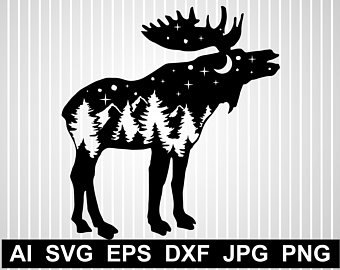 Moose clipart game wild. Etsy