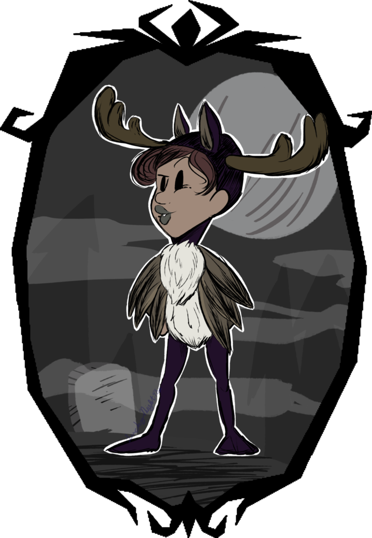 Hallowed night goose by. Moose clipart game wild