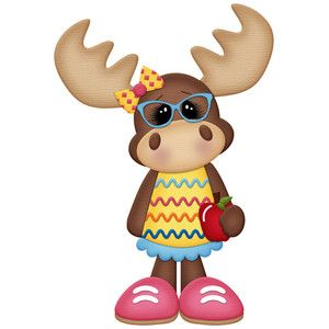 Silhouette design store view. Moose clipart girl moose