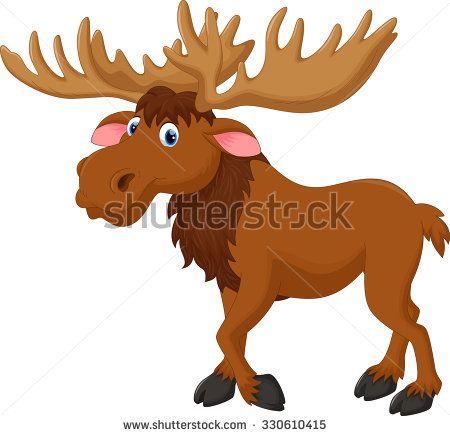 Moose clipart illustration. Of cartoon stock vector