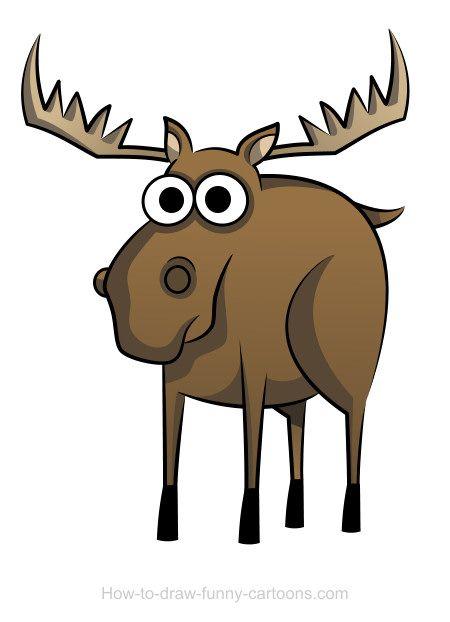 Moose clipart kid. Cartoon antlers drawings joden