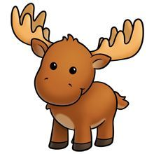 Drawing for kids at. Moose clipart kid