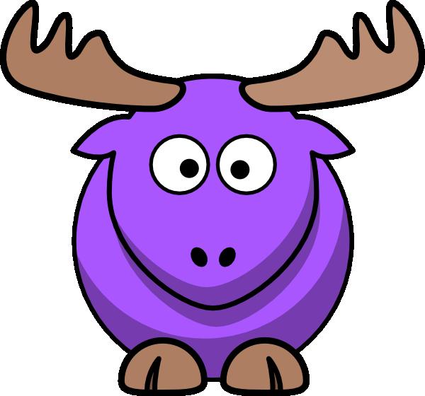 Purple cartoon clip art. Moose clipart moose family