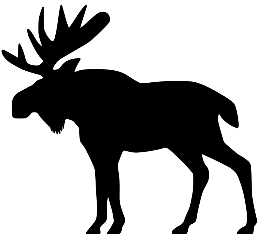 Moose clipart moose outline. Free cliparts black download