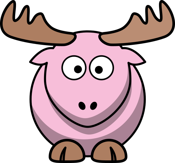 Moose clipart pink. Light cartoon clip art